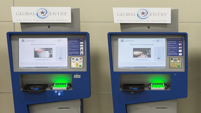 US Global Entry kiosks