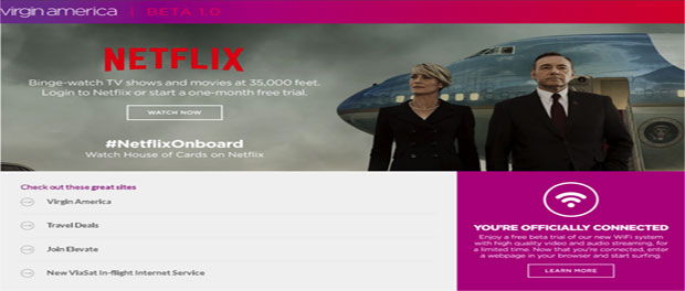 Virgin America partners with Netflix