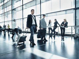 Passengers at Vienna Airport