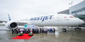 WestJet gets its first Boeing 787 Dreamliner