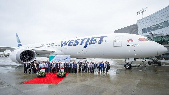 WestJet first Boeing 787 Dreamliner