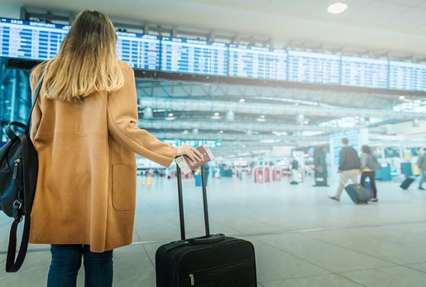 Female pax at airport