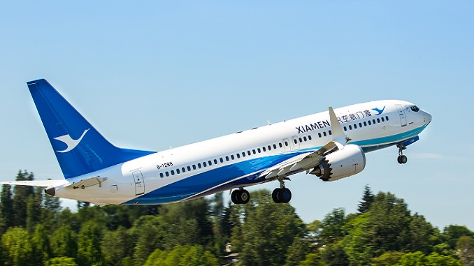 Xiamen Airlines 1st 737 MAX