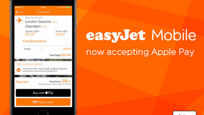 easyJet launches Apple Pay