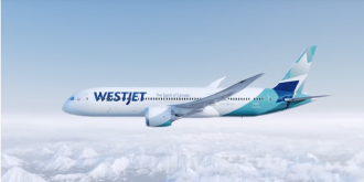 WestJet's first Boeing 787 commercial flight