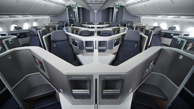 American reveals new Business Class seats for 787