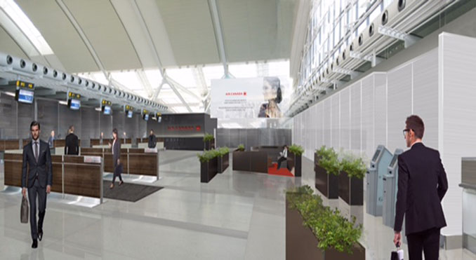 Air Canada new Business Class check-in at Toronto-Pearson