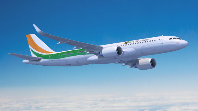 Air Côte d'Ivoire inflight connectivity on new A320s