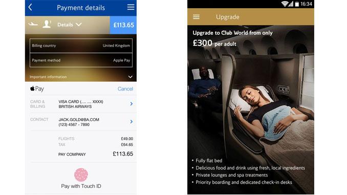 British Airways app now has Apple Pay