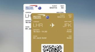 Multiple boarding passes on British Airways app