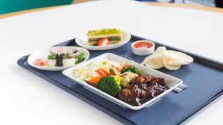 British Airways pre-order meals on flight from Gatwick