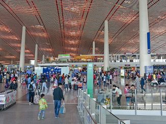 Beijing Capital Terminal 3 check-in area