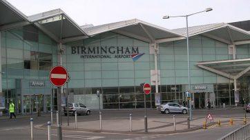 Birmingham Airport arrivals