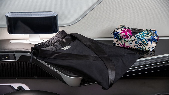 British Airways First loungewear