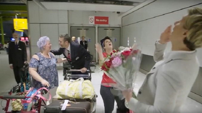 British Airways Reunites Couple Living 10,000 Miles Apart