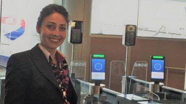 British Airways biometric boarding at Orlando