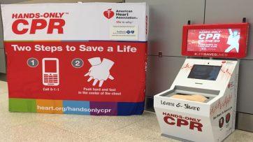 Harrisburg Airport unveils CPR training kiosk
