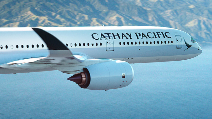 Cathay Pacific welcomes its first A350 to Hong Kong