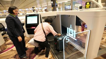 Changi T4 auto bag drop
