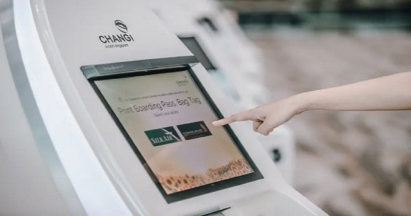 Changi contactless check-in kiosk