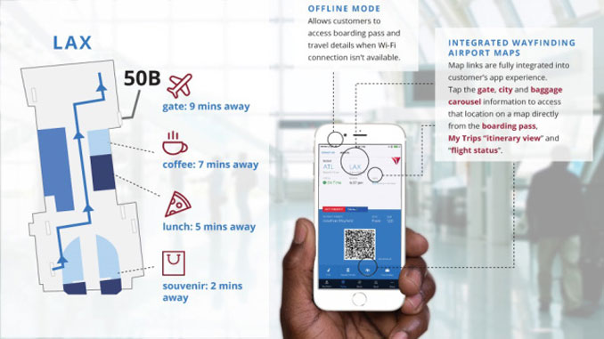 Delta adds airport wayfinding maps to app