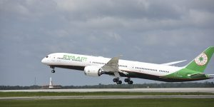EVA Air takes delivery of its first Boeing 787-10 Dreamliner