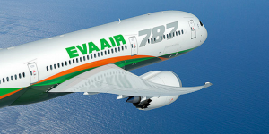 EVA Air receives its first Boeing 787 Dreamliner