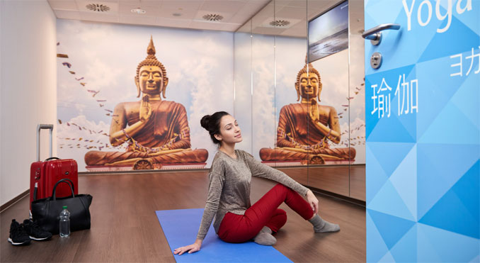 Frankfurt Airport opens free Yoga rooms for passengers