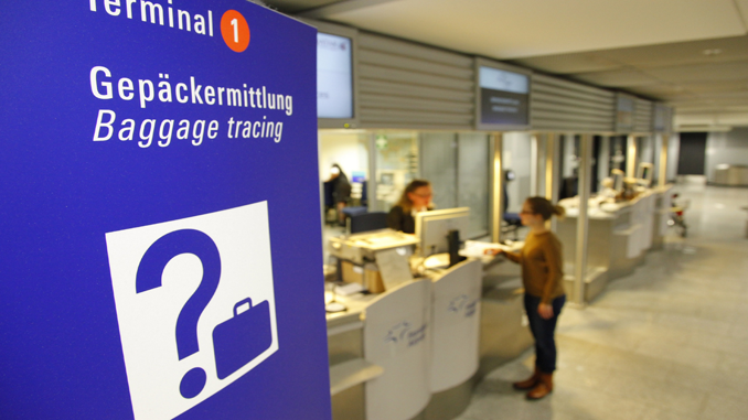 Baggage tracing desk at Frankfusrt