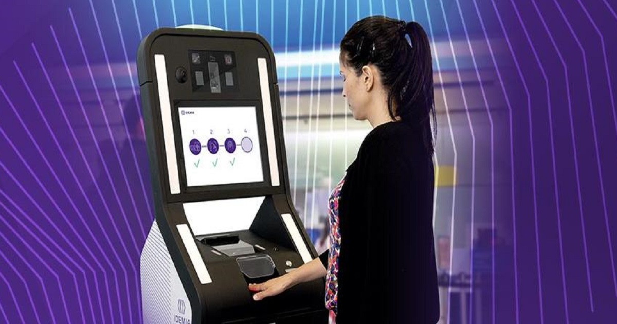 IDEMIA biometric kiosk