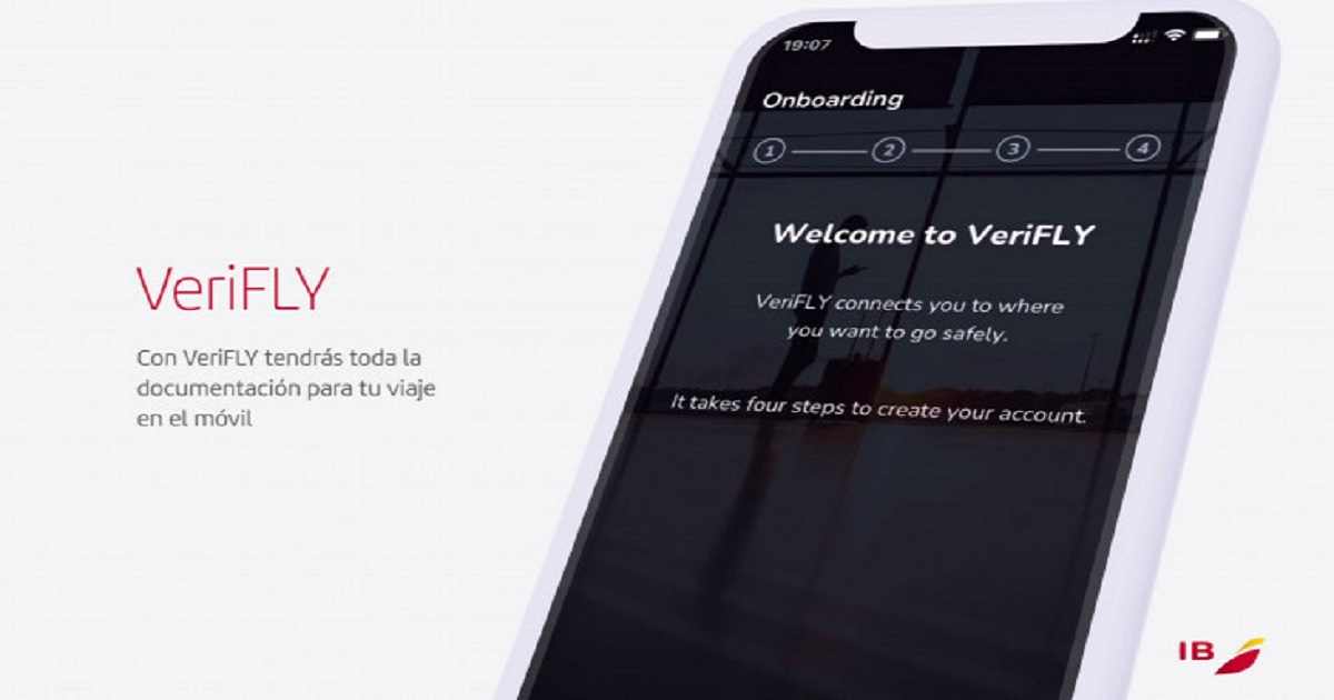 Iberia VeriFly app on US flights