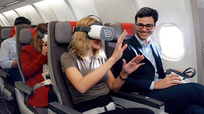 Inflight VR headset