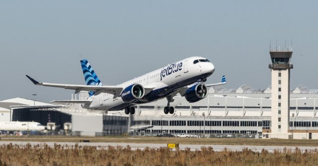 JetBlue A220-300 inaugural test flight