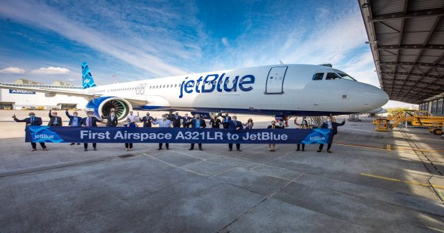 JetBlue first A320LR