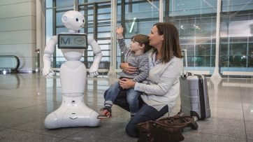 Josie Pepper robot at Munich Airport