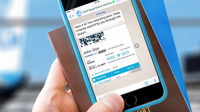 KLM mobile boarding pass