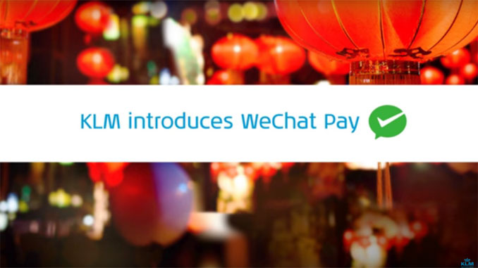 KLM-takes-WeChat-payments