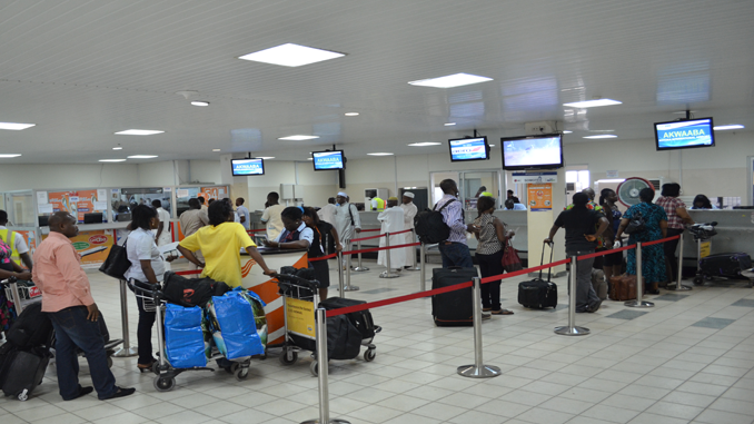 Kotoka check-in queue