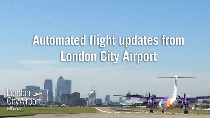 London City Airport provides flight info via Facebook Messenger