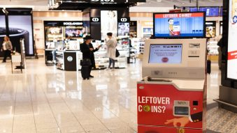 Larnaca Airport unveils self-service coin changing kiosk