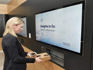 Lufthansa Delight to Go screen