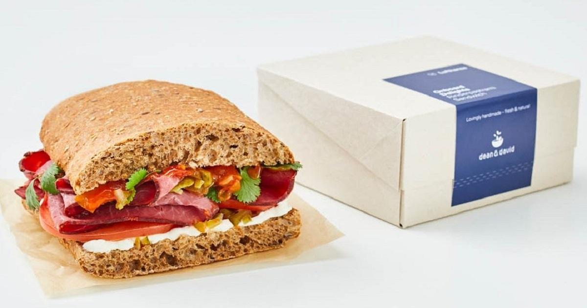 Lufthansa Onboard Delights sandwich