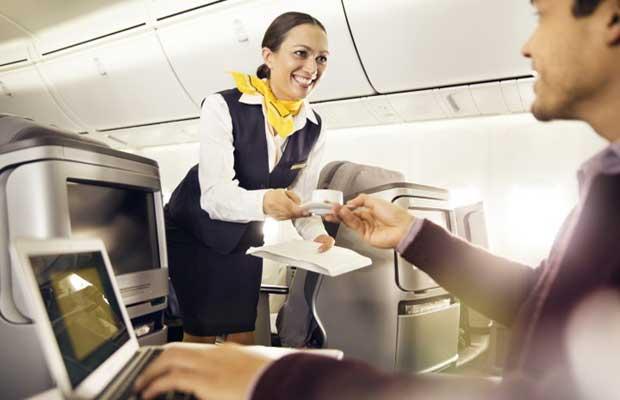 Lufthansa restaurant service in long-haul Business Class