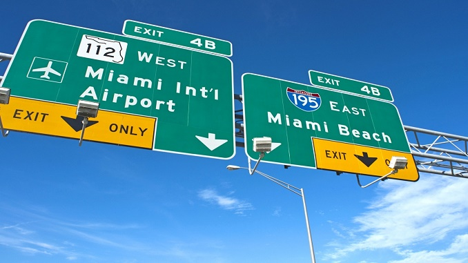 Miami Airport Exit sign