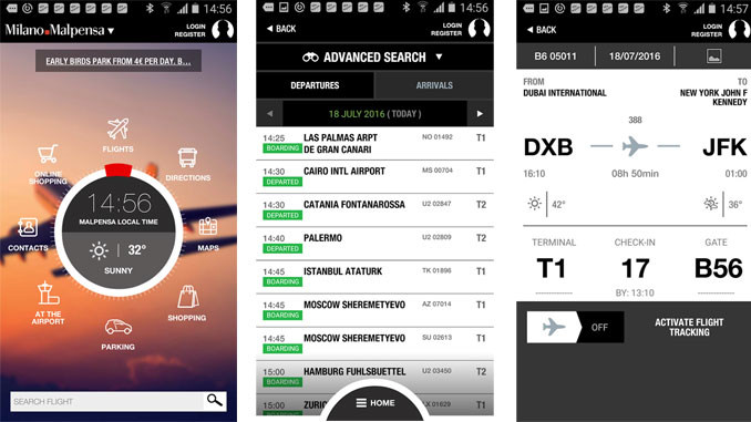Malpensa and Linate launch Milan Airports App