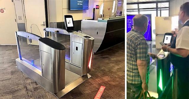 Newark Liberty biometric boarding trial