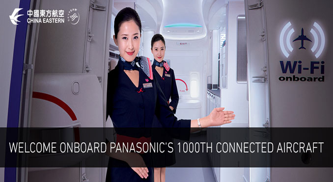 Panasonic brings inflight connectivity to its 1000th aircraft