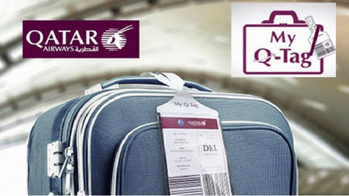 Qatar Airways home print bag tag