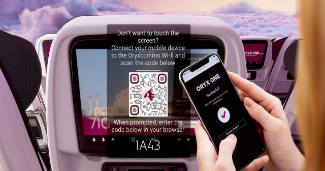 Qatar Airways touchless IFE