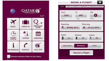 Qatar Airways enhances its mobile app